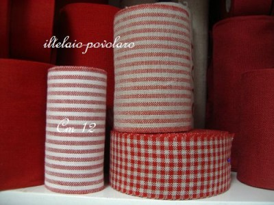 RIGHINE BIANCHE ROSSE 12 CM