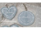 cuore Amour cm. 9 x 9 effetto shabby chic