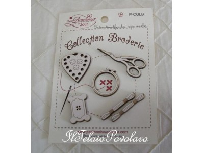 Collection broderie - serie  beige