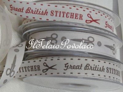 Great  british STITCHER in grigio H. 1 cm.