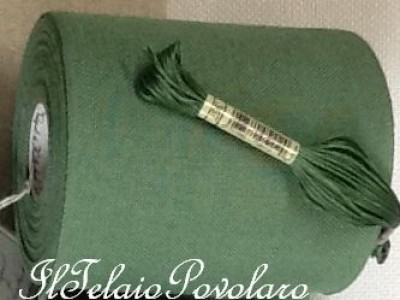 Bordo in lino - verde 367 - cm. 12